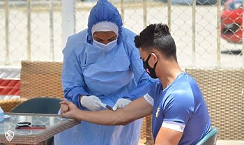 مخاوف الزمالك اليوم .  بعد إصابة الثلاثى بفيروس كورونا ورعب مصطفى فتحي بسبب زوجته