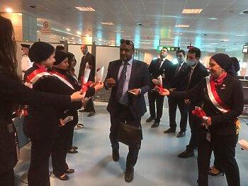 بعثة الزمالك تصل إلى المغرب   .احتفال بالتورتة فى الطائرة   ..الإجراءات الإحترازية فى مطار محمد الخامس